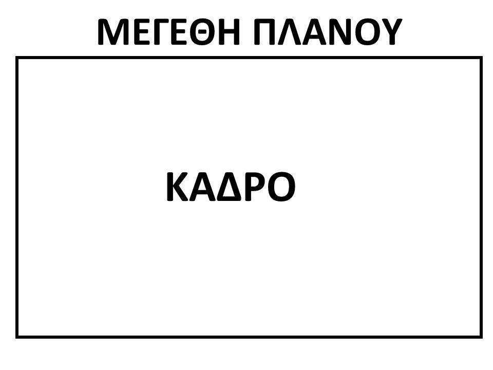 ΜΕΓΕΘΗ ΠΛΑΝΟΥ ΚΑΔΡΟ