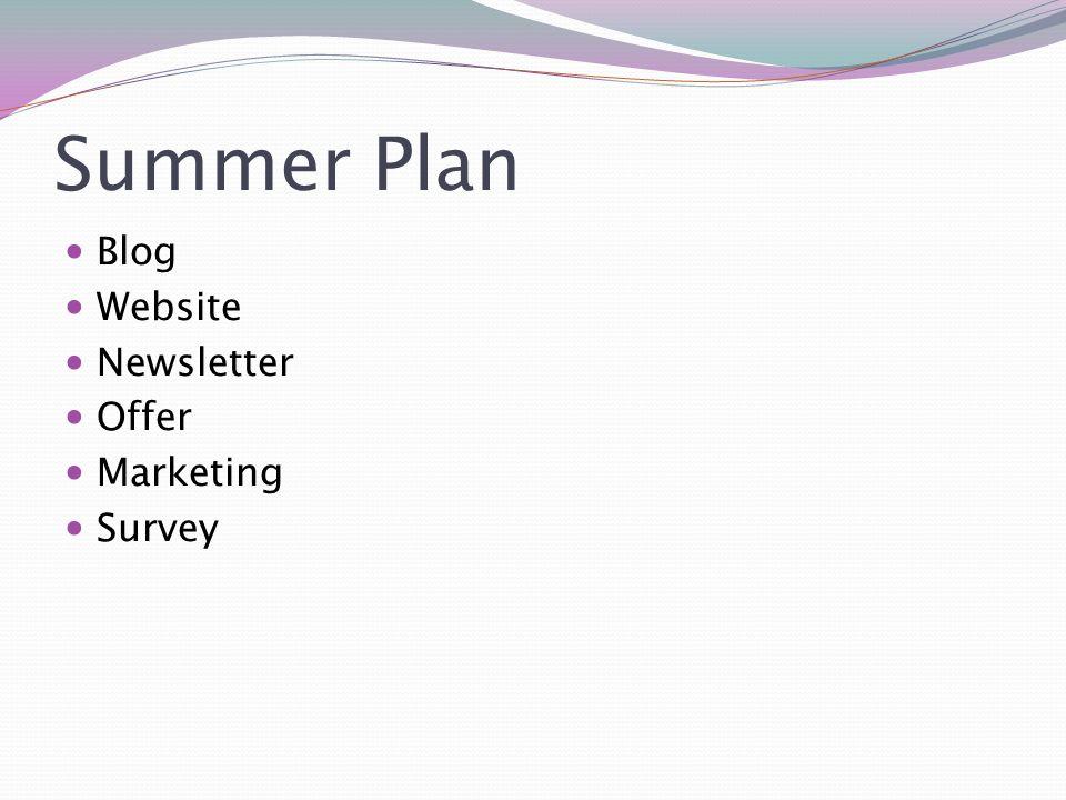 Blog Παραμένουμε στο 1 post την εβδομάδα (τουλάχιστον για τον Ιούνιο) Το ebook θα ανέβει Ιούλιο για να μαζέψουμε leads Σταδιακά να αρχίσουν τα guest posts από Κρυπωτό/Τσίγκο Θεματολογία: Καλύτερα να επικεντρωθούμε σε ασφαλιστικά νέα, τα tips δεν δουλεύουν και τόσο