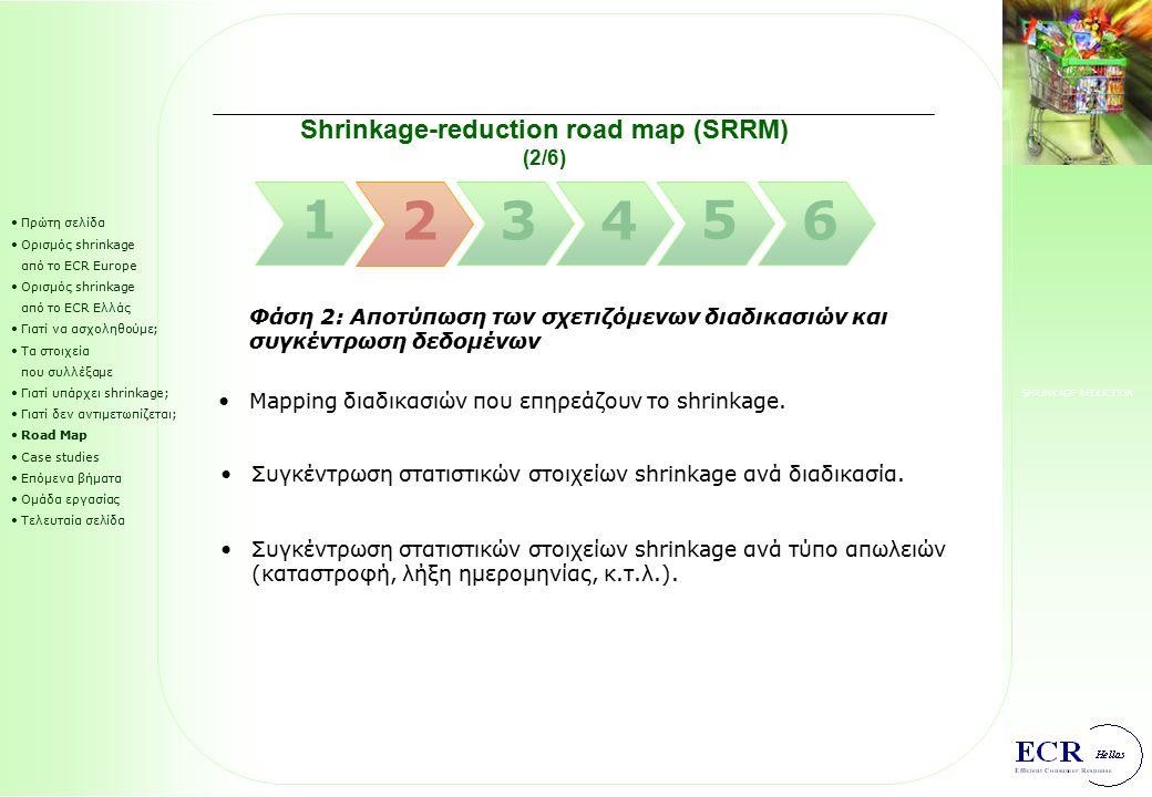 SHRINKAGE REDUCTION Shrinkage-reduction road map (SRRM) (1/6) Πρώτη σελίδα Ορισμός shrinkage από το ECR Europe Ορισμός shrinkage από το ECR Ελλάς Γιατ