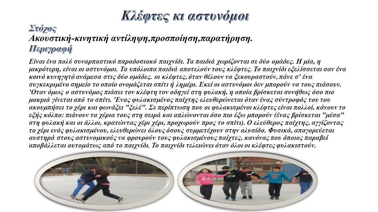 Είναι ένα πολύ συναρπαστικό παραδοσιακό παιχνίδι. Τα παιδιά χωρίζονται σε δύο ομάδες.