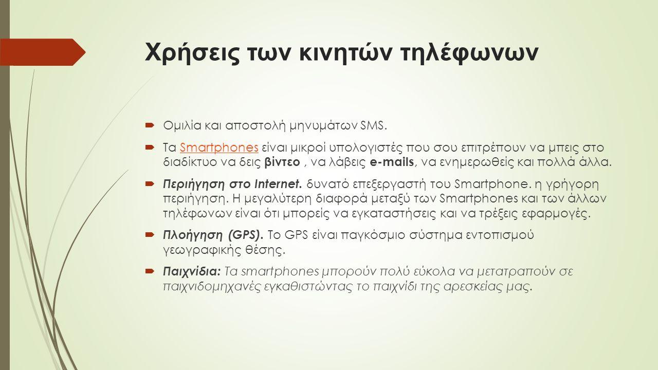  Ομιλία και αποστολή μηνυμάτων SMS.