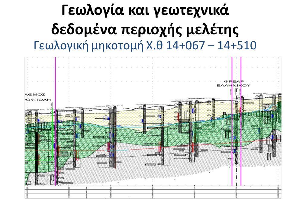 Γεωλογία και γεωτεχνικά δεδομένα περιοχής μελέτης Γεωλογική μηκοτομή Χ.θ 14+510 – 15+174
