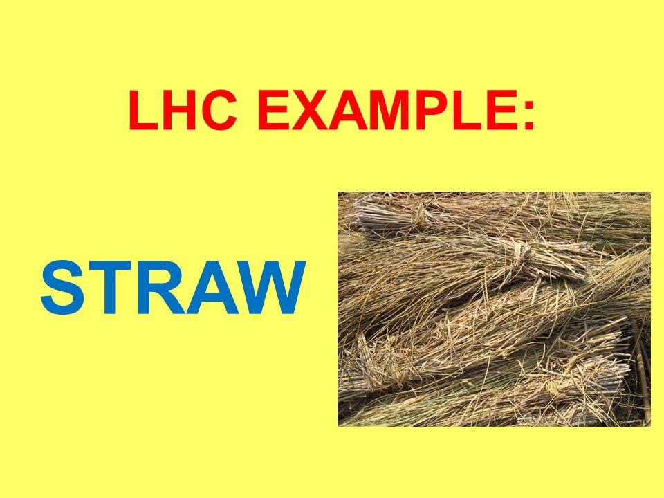 LHC EXAMPLE: STRAW