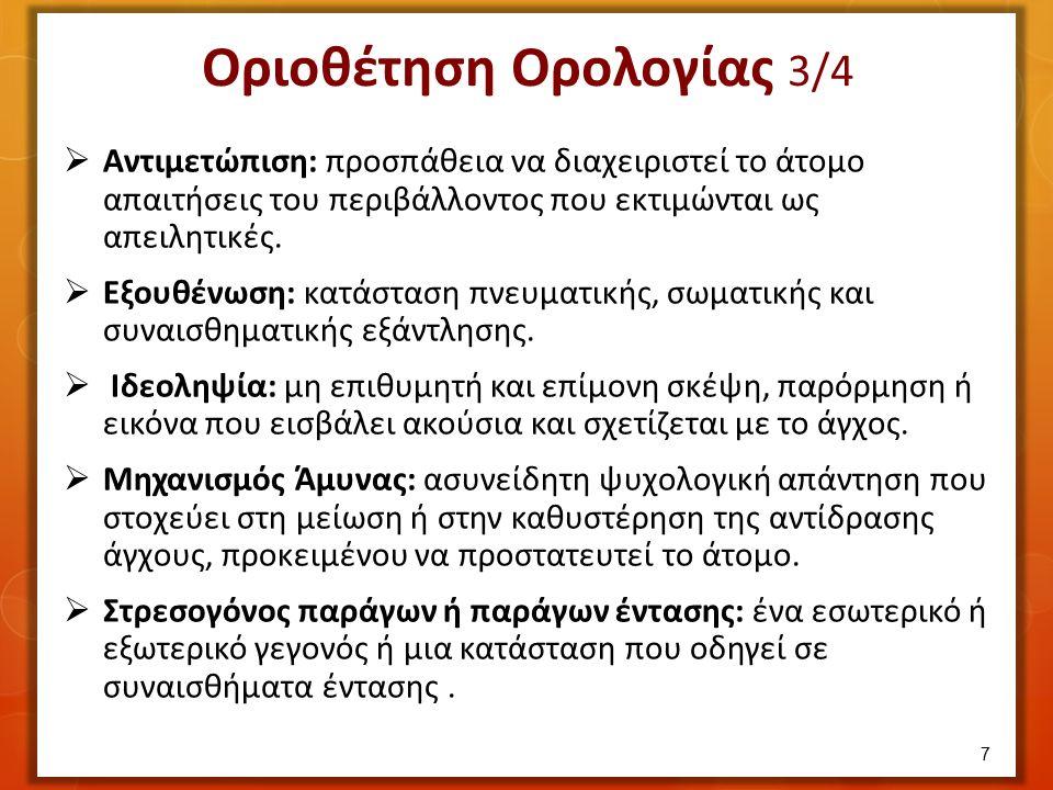  Σωματική συμπτωματολογία (μετατρεπτική). Ψυχική (αποσυνδετική, διαχωριστική ή διασχιστική).