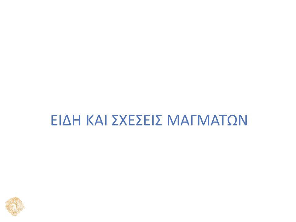 ΕΙΔΗ ΚΑΙ ΣΧΕΣΕΙΣ ΜΑΓΜΑΤΩΝ