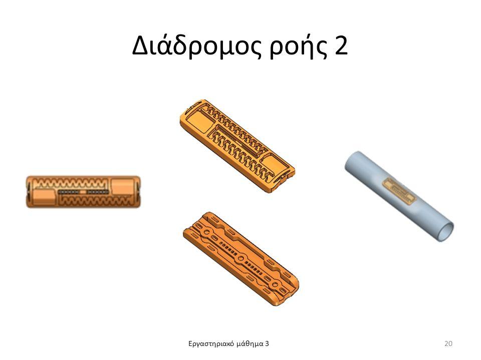 Εργαστηριακό μάθημα 3 Διάδρομος ροής 2 20