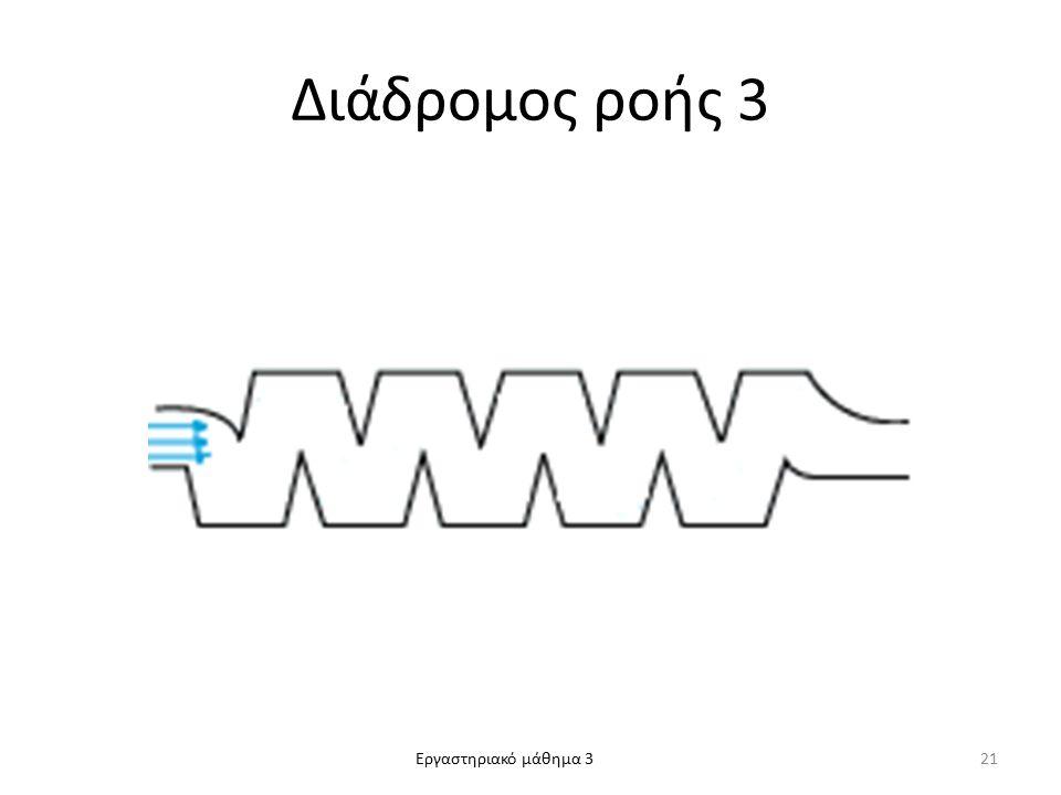 Εργαστηριακό μάθημα 3 Διάδρομος ροής 3 21