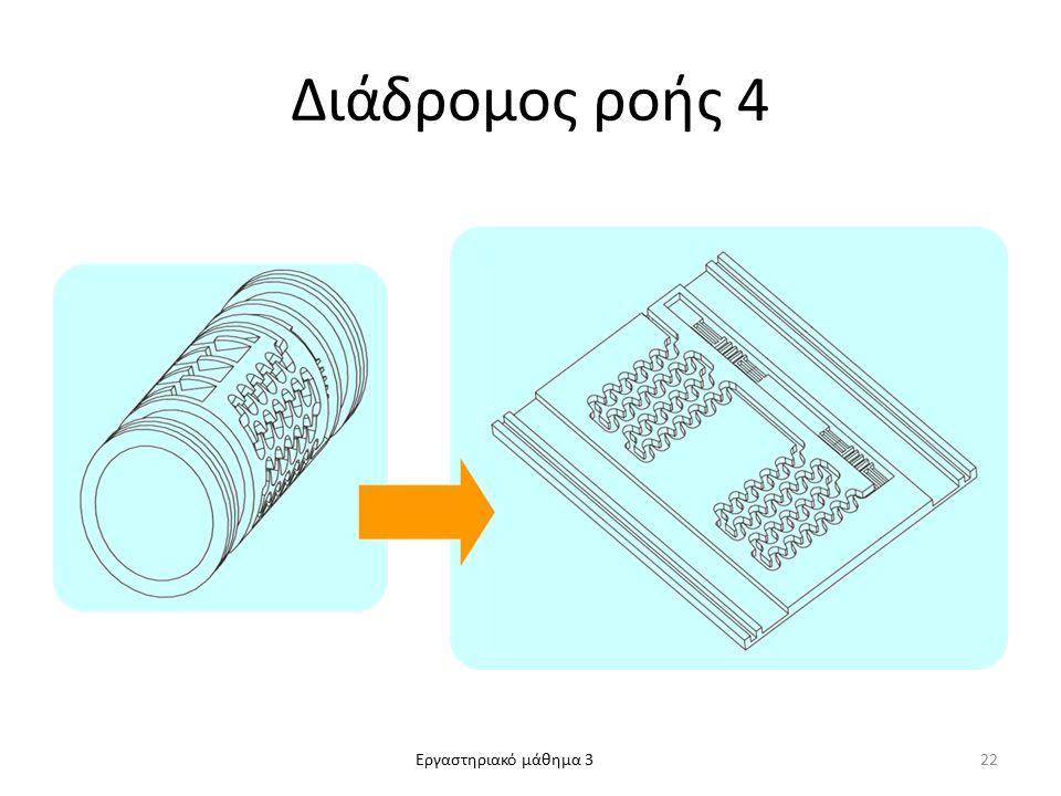 Εργαστηριακό μάθημα 3 Διάδρομος ροής 4 22