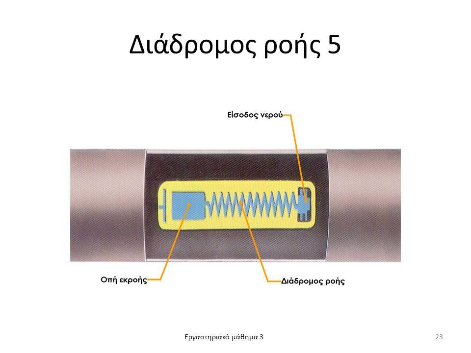 Εργαστηριακό μάθημα 3 Διάδρομος ροής 5 23