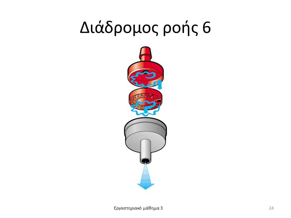 Εργαστηριακό μάθημα 3 Διάδρομος ροής 6 24