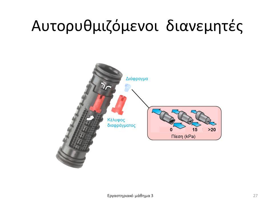 Εργαστηριακό μάθημα 3 Αυτορυθμιζόμενοι διανεμητές 27
