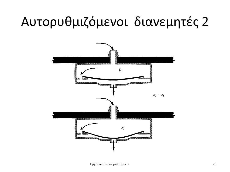 Εργαστηριακό μάθημα 3 Αυτορυθμιζόμενοι διανεμητές 2 29