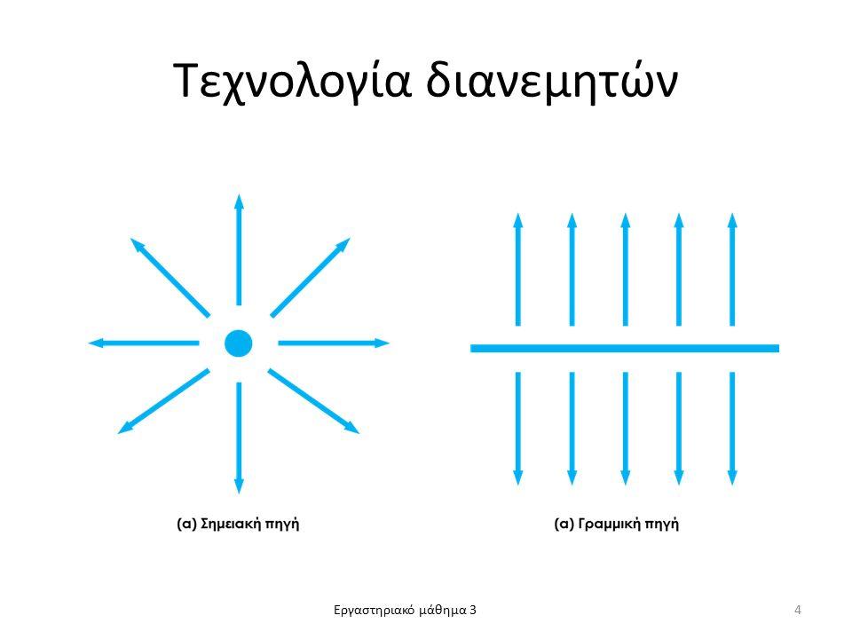 Εργαστηριακό μάθημα 3 Τεχνολογία διανεμητών 4