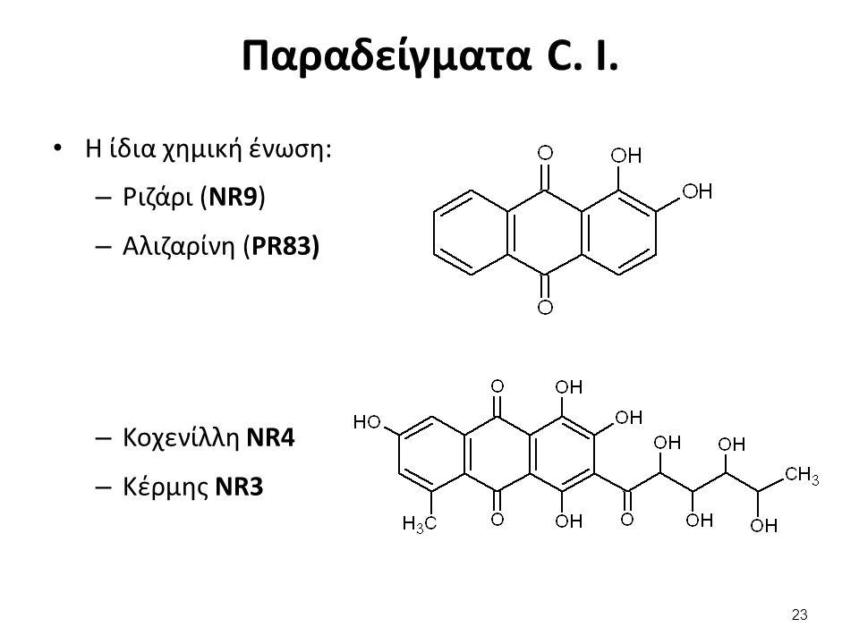 Παραδείγματα C. I.