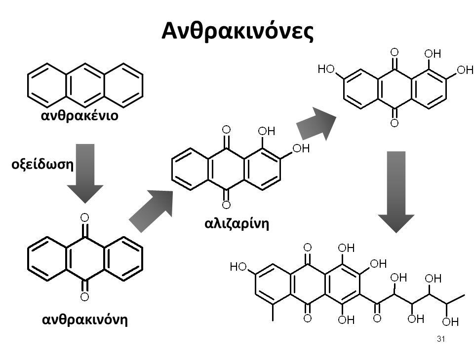 Ανθρακινόνες ανθρακένιο οξείδωση ανθρακινόνη αλιζαρίνη 31