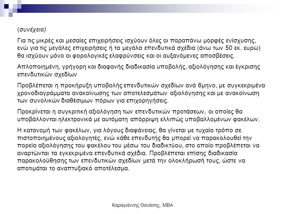 Καραγιάννης Θανάσης, ΜΒΑ Διακρίσεις 1.
