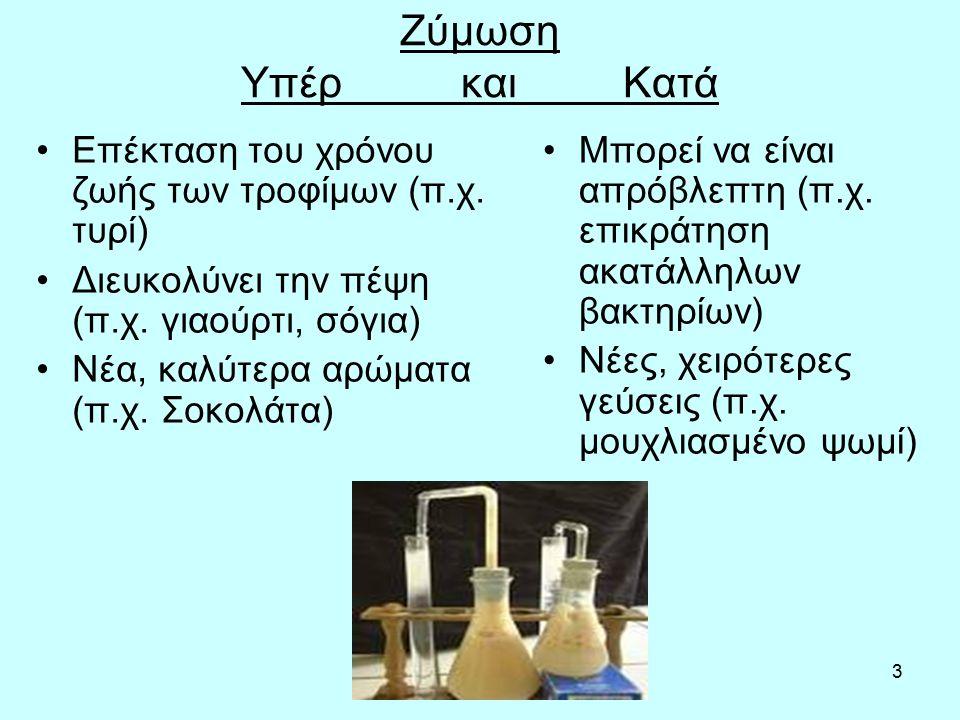 4 Η διαδικασία Αερόβια αναπνοή ↔ αναερόβια αναπνοή Απελευθέρωση ενέργειας από τη γλυκόζη ή άλλα οργανικά υποστρώματα παρουσία ή απουσία οξυγόνου Παραγωγή CO 2, H 2 O, ενέργειας, αλκοόλης, οργανικών οξέων, αλδεϋδών κ.λπ.