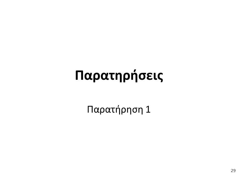 Παρατηρήσεις Παρατήρηση 1 29