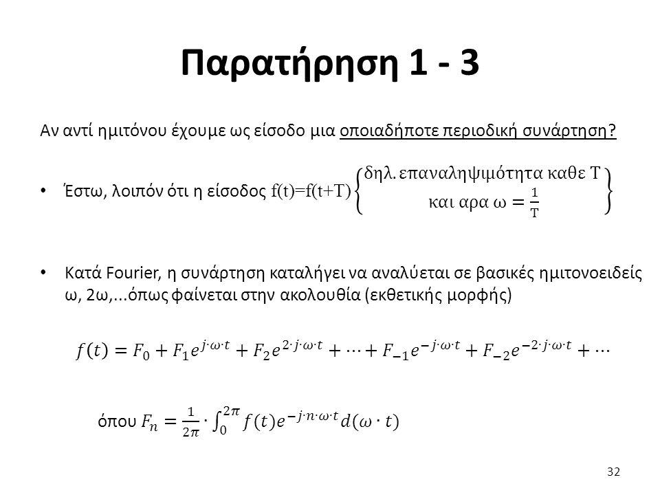 Παρατήρηση 1 - 3 32