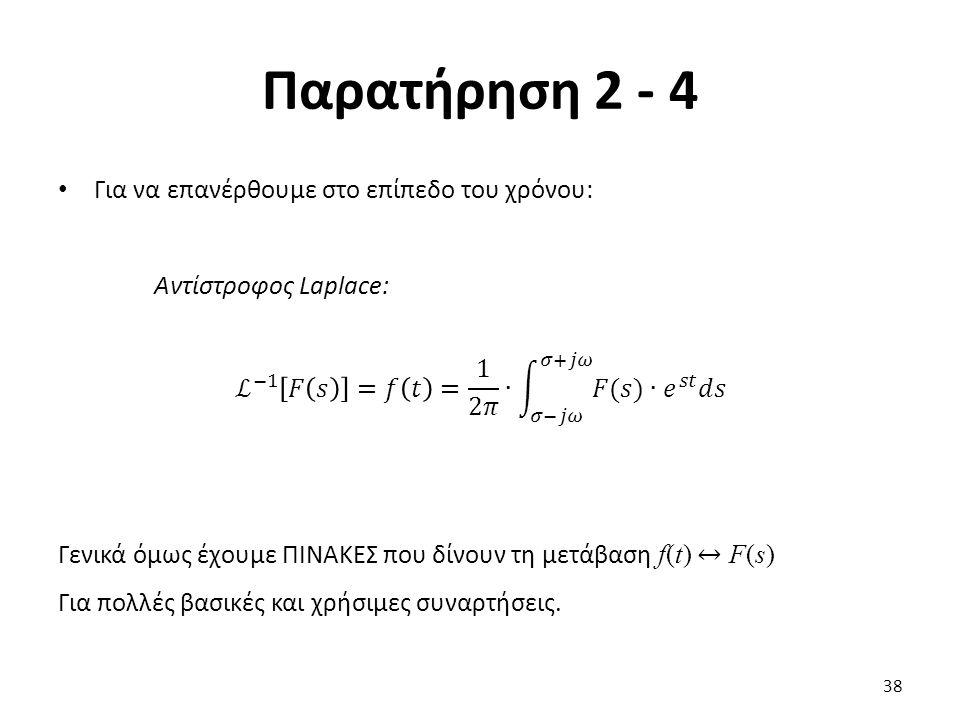 Παρατήρηση 2 - 4 38
