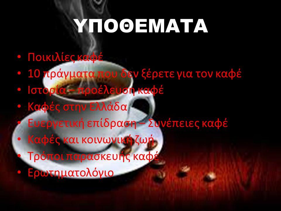3.Αρχικά ο καφές τρωγόταν και δεν πινόταν.