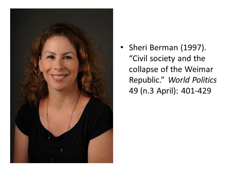 Sheri Berman (1997).