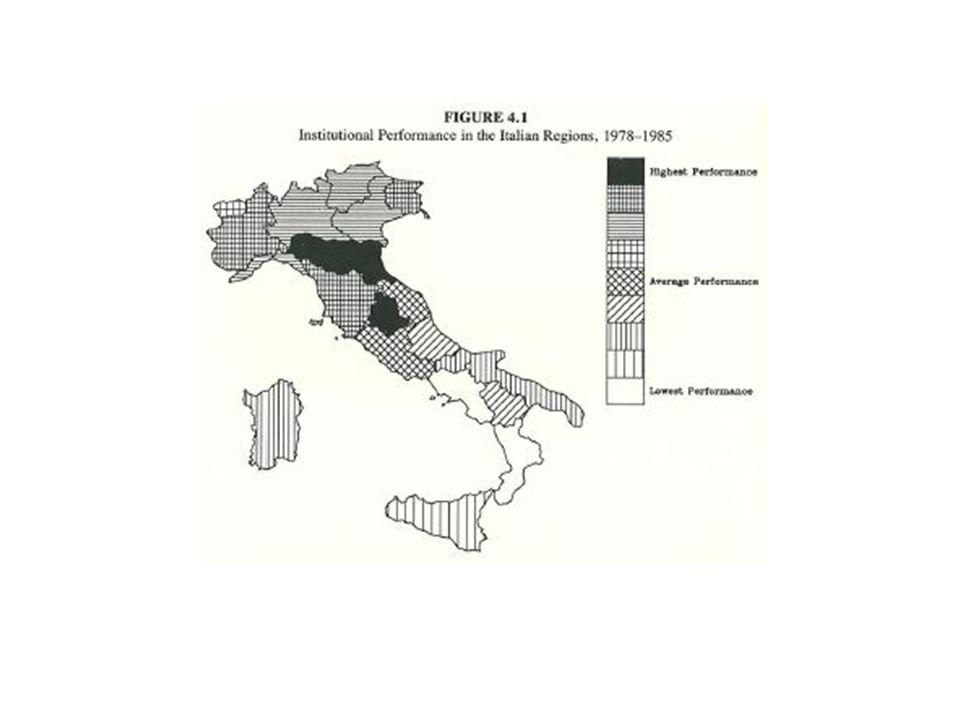 Tο παρελθόν επηρεάζει το παρόν Στη Βόρεια Ιταλία υπάρχει μια παράδοση κοινοτικής αυτοδιοίκησης που έχει τις ρίζες της στο 12 ο αιώνα.