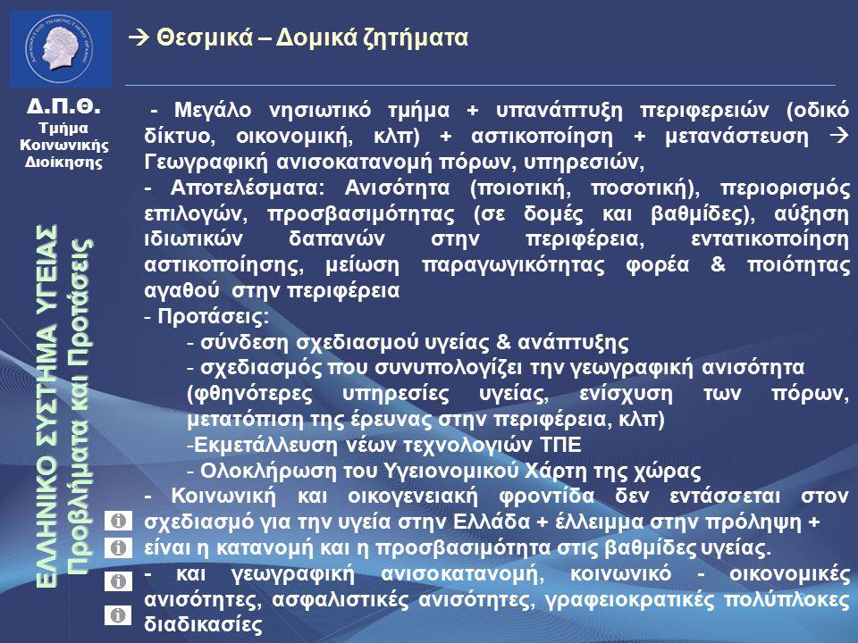 24 Δ.Π.Θ.Τμήμα Κοινωνικής Διοίκησης -εξέλιξη διαπεριφερειακών ροών ασθενών (πηγή: Υπ.