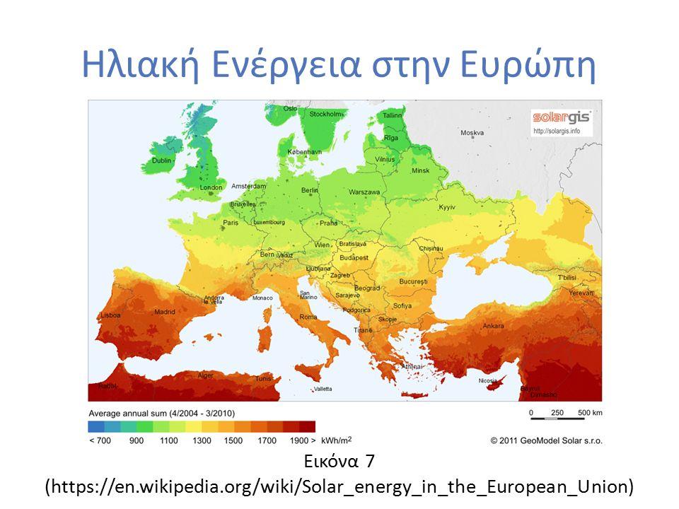 Ηλιακή Ενέργεια στην Ευρώπη Εικόνα 7 (https://en.wikipedia.org/wiki/Solar_energy_in_the_European_Union)