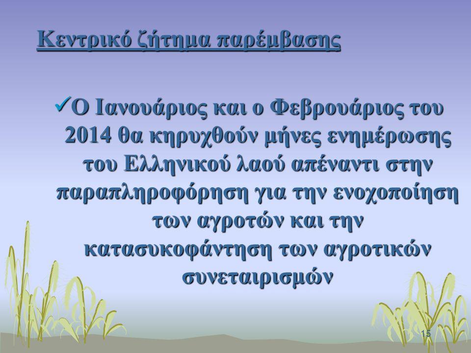 16 Ο αγροτικός τομέας ως μοχλός ανάκαμψης της οικονομίας της χώρας Ο αγροτικός τομέας ως μοχλός ανάκαμψης της οικονομίας της χώρας Αυτό μπορεί να γίνει με μία εθνική συμφωνία ως προς την κατανομή των πόρων της ΚΑΠ στο διάστημα 2014-2020 Αυτό μπορεί να γίνει με μία εθνική συμφωνία ως προς την κατανομή των πόρων της ΚΑΠ στο διάστημα 2014-2020 - Θέλουμε την νέα ΚΑΠ πιο δίκαιη, κοινωνικά αποδεκτή, με κατεύθυνση στήριξης σε όσους πραγματικά παράγουν -Είναι ευκαιρία για αποκατάσταση αδικιών, στρεβλώσεων, παραλείψεων του παρελθόντος