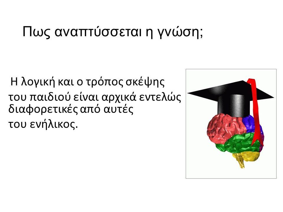 Πως αναπτύσσεται η γνώση; H λογική και ο τρόπος σκέψης του παιδιού είναι αρχικά εντελώς διαφορετικές από αυτές του ενήλικος.