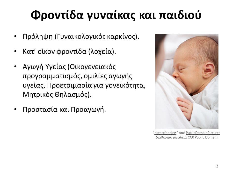 Φροντίδα γυναίκας και παιδιού Πρόληψη (Γυναικολογικός καρκίνος).