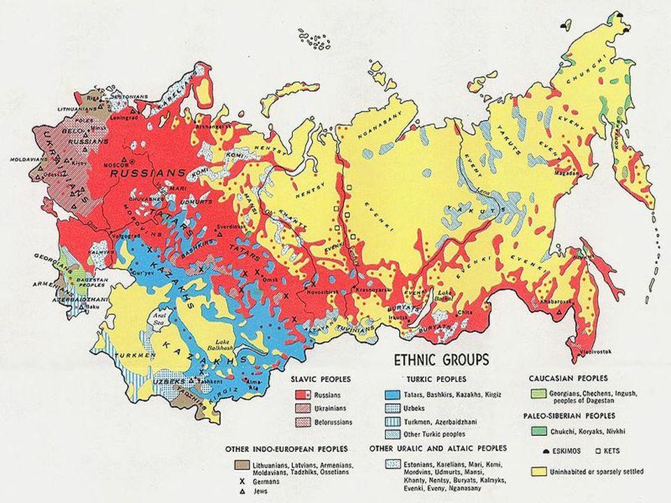 Σοβιετική Ένωση  Η Ένωση των Σοβιετικών Σοσιαλιστικών Δημοκρατιών (ΕΣΣΔ) ήταν ένα συνταγματικό, σοσιαλιστικό κράτος, που βρισκόταν στην ανατολική Ευρώπη και τη βόρεια Ασία και είχε πρωτεύουσα τη Μόσχα.