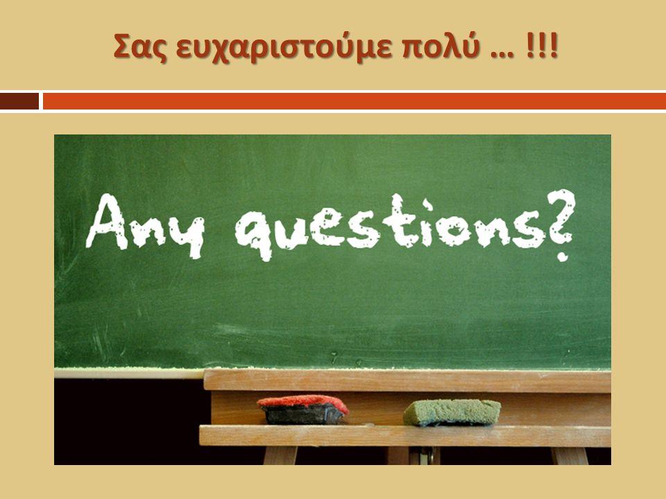 Πηγές - Βοηθητική Βιβλιογραφία  http://repository.edulll.gr/edulll/retrieve/3698/1095_01_ oaed_enotita07_v04.pdf http://repository.edulll.gr/edulll/retrieve/3698/1095_01_ oaed_enotita07_v04.pdf  Ειρήνη Μπιζά - Ορισμός μαθηματικών εννοιών (definition)  Δημήτρης Μπουνάκης - Οι ερωτήσεις στη διδασκαλία των μαθηματικών  Συστημικό δίκτυο ερωτήσεων ( αρχείο e-class)