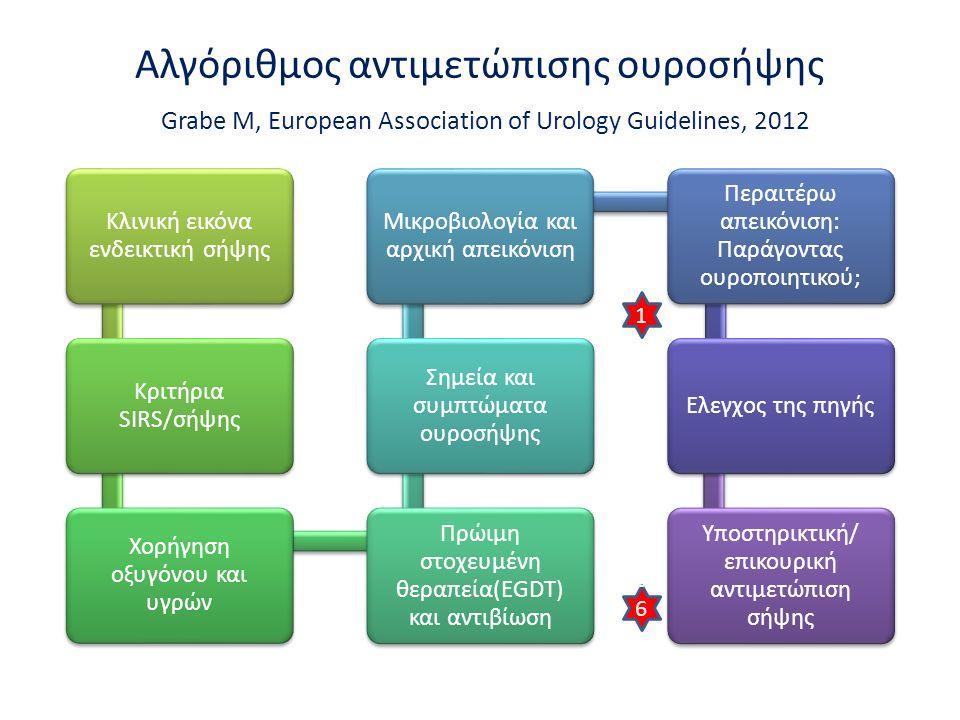 Αλγόριθμος αντιμετώπισης ουροσήψης Grabe M, European Association of Urology Guidelines, 2012 1 666 h666 h