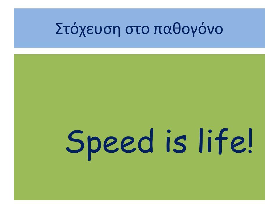 Στόχευση στο παθογόνο Speed is life!