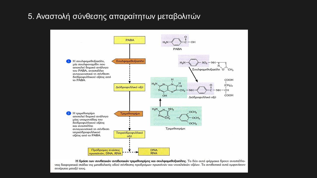 5. Αναστολή σύνθεσης απαραίτητων μεταβολιτών