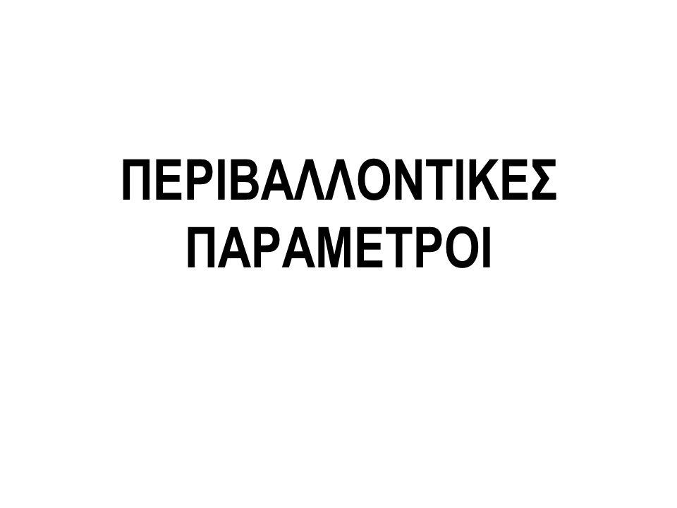 ΠΕΡΙΒΑΛΛΟΝΤΙΚΕΣ ΠΑΡΑΜΕΤΡΟΙ