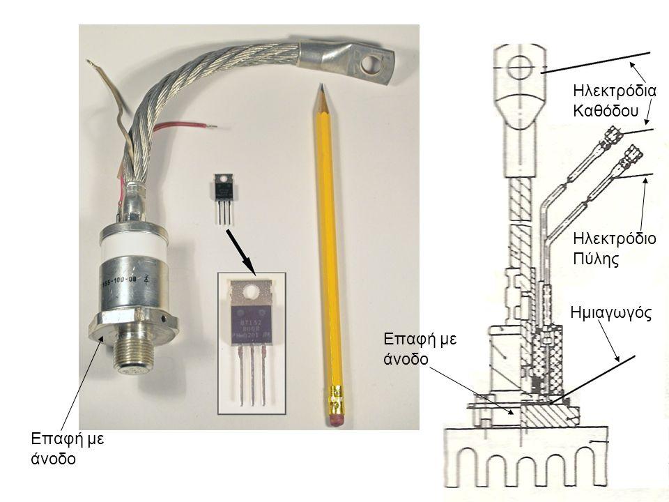 Ηλεκτρόδια Καθόδου Ηλεκτρόδιο Πύλης Ημιαγωγός Επαφή με άνοδο