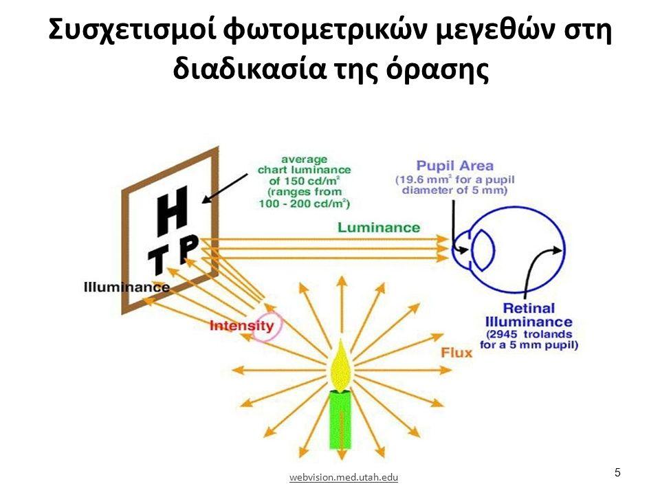 Συσχετισμοί φωτομετρικών μεγεθών στη διαδικασία της όρασης 5 webvision.med.utah.edu