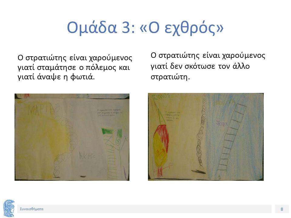 9 Συναισθήματα Το τελικό αποτέλεσμα Κολλήσαμε τις ζωγραφιές της ίδιας ιστορίας τη μια πίσω από την άλλη και τις κρεμάσαμε στο ύψος των παιδιών ώστε να μπορούν να τις διαβάζουν όποτε θέλουν.