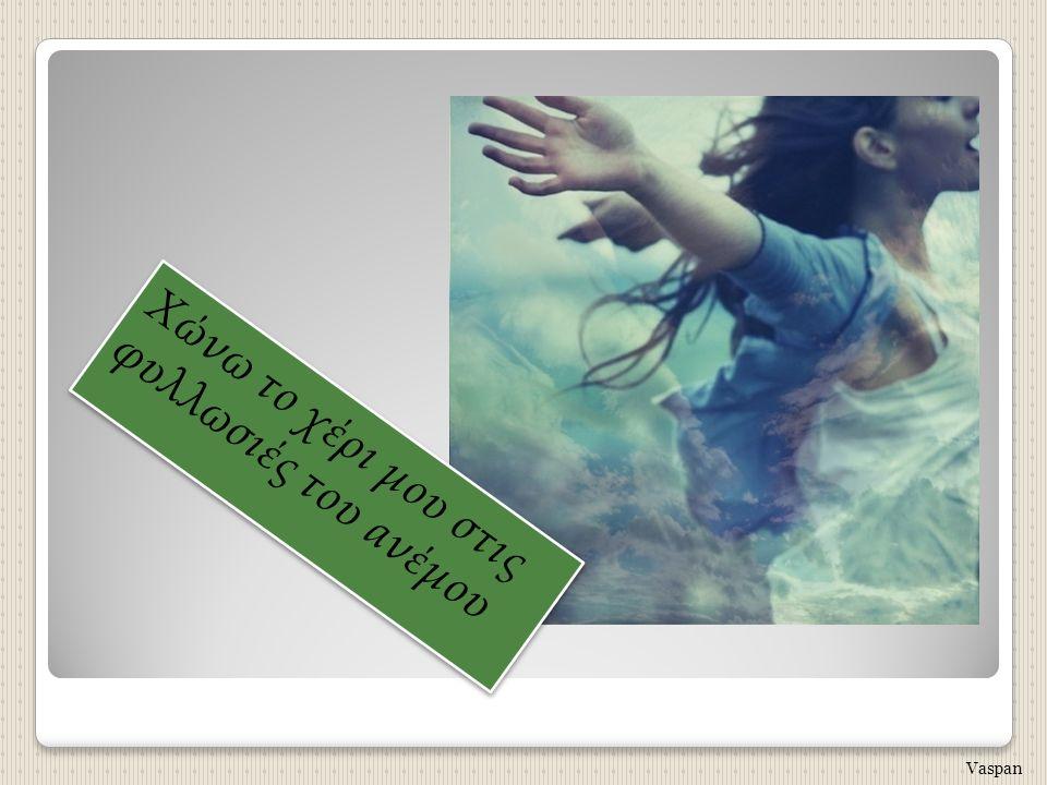 Χώνω το χέρι μου στις φυλλωσιές του ανέμου Vaspan