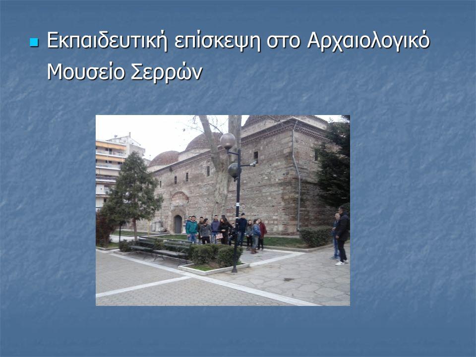 Εκπαιδευτική επίσκεψη στο Αρχαιολογικό Μουσείο Σερρών Εκπαιδευτική επίσκεψη στο Αρχαιολογικό Μουσείο Σερρών