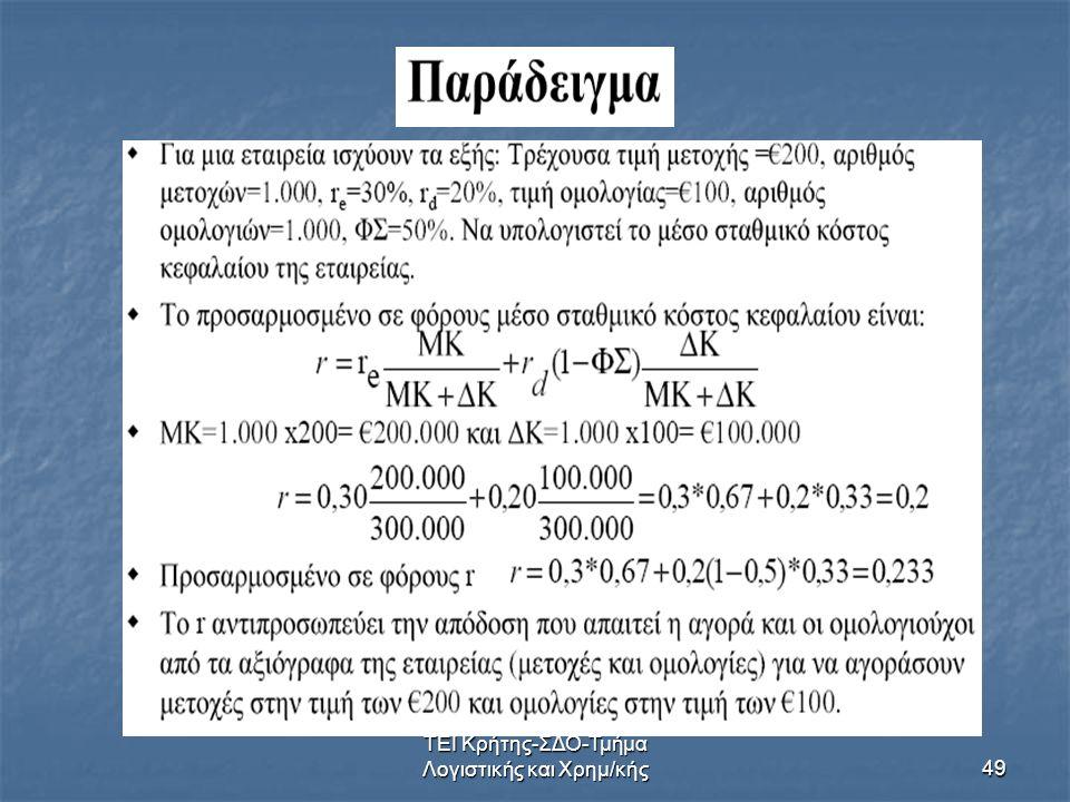 ΤΕΙ Κρήτης-ΣΔΟ-Τμήμα Λογιστικής και Χρημ/κής49