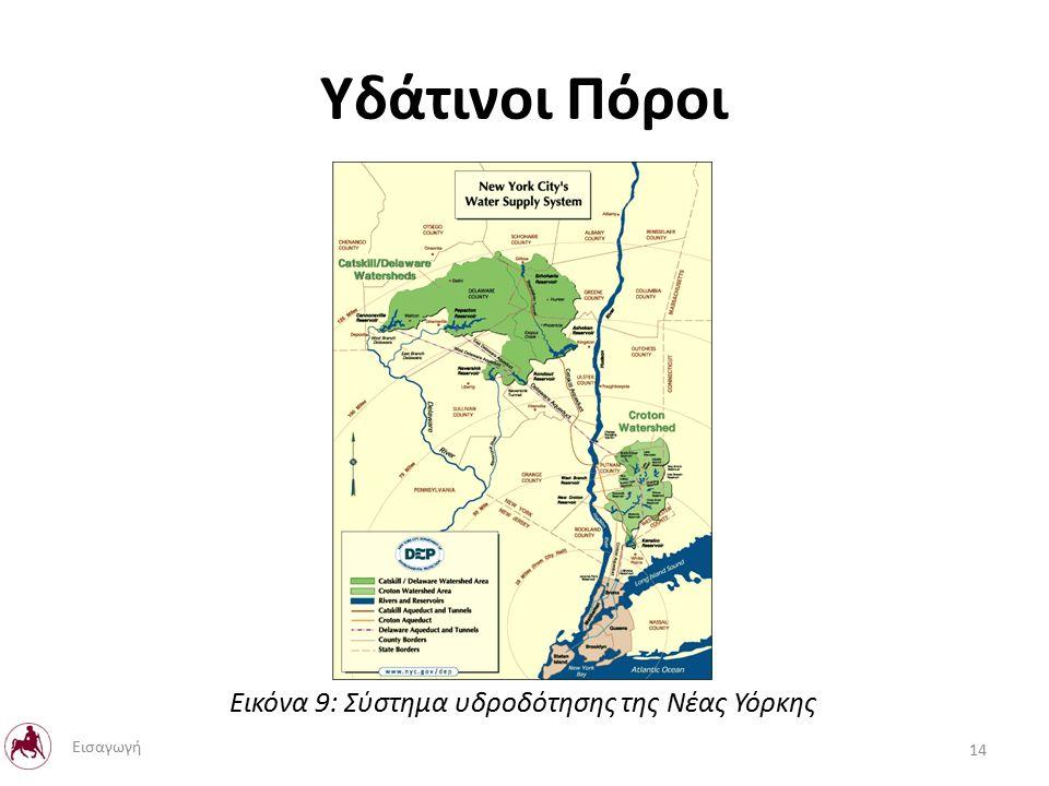 Υδάτινοι Πόροι Εικόνα 9: Σύστημα υδροδότησης της Νέας Υόρκης 14 Εισαγωγή