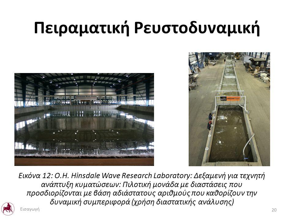 Πειραματική Ρευστοδυναμική 20 Εισαγωγή Εικόνα 12: O.H.