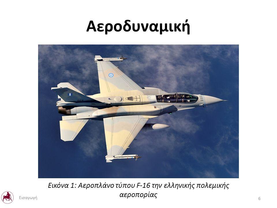 Αεροδυναμική Εικόνα 1: Αεροπλάνο τύπου F-16 την ελληνικής πολεμικής αεροπορίας 6 Εισαγωγή
