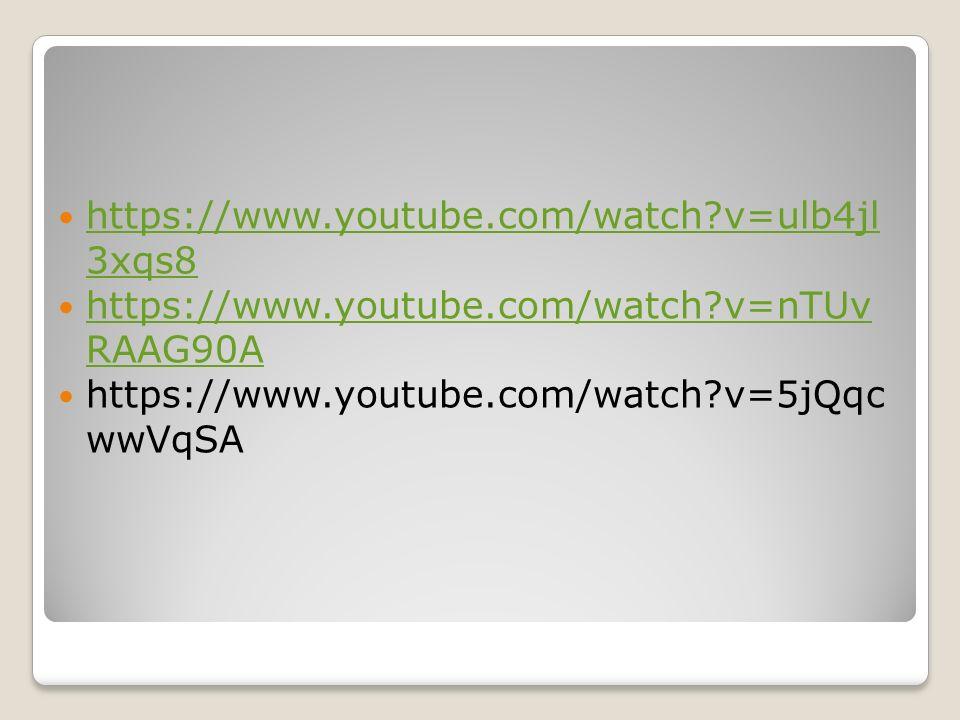 https://www.youtube.com/watch?v=ulb4jl 3xqs8 https://www.youtube.com/watch?v=ulb4jl 3xqs8 https://www.youtube.com/watch?v=nTUv RAAG90A https://www.you