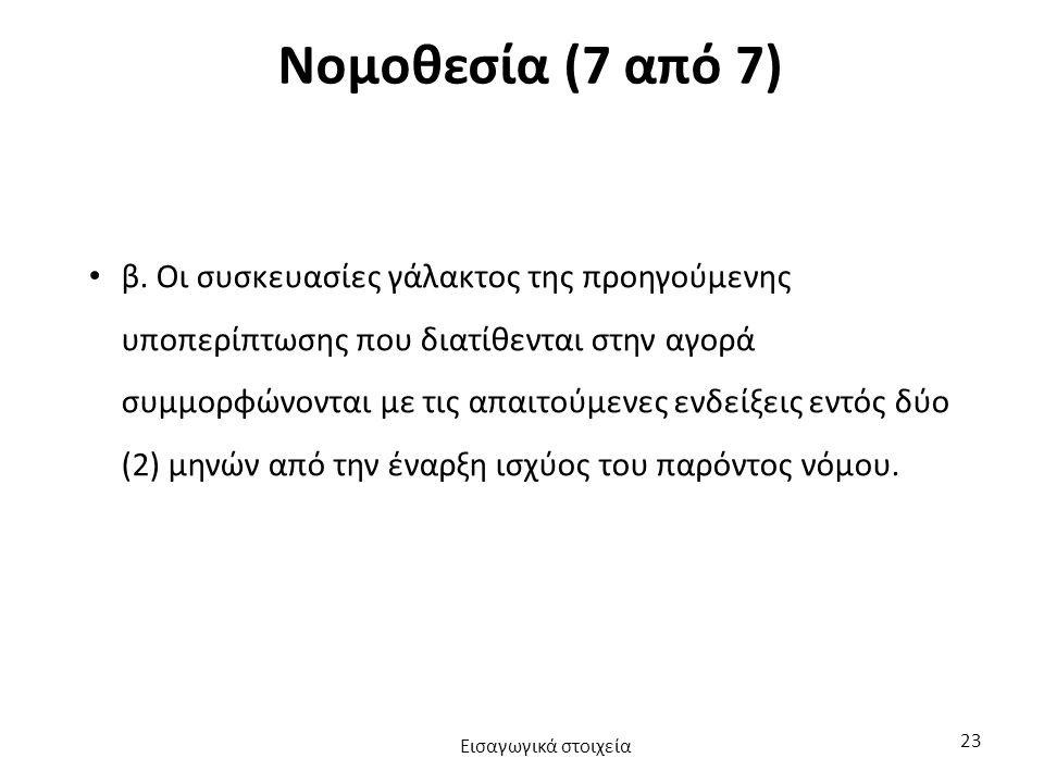 Νομοθεσία (7 από 7) β.