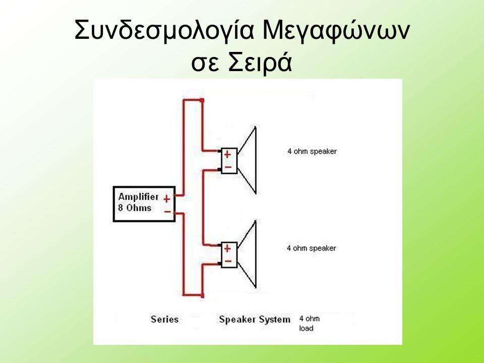 Συνδεσμολογία Μεγαφώνων σε Σειρά
